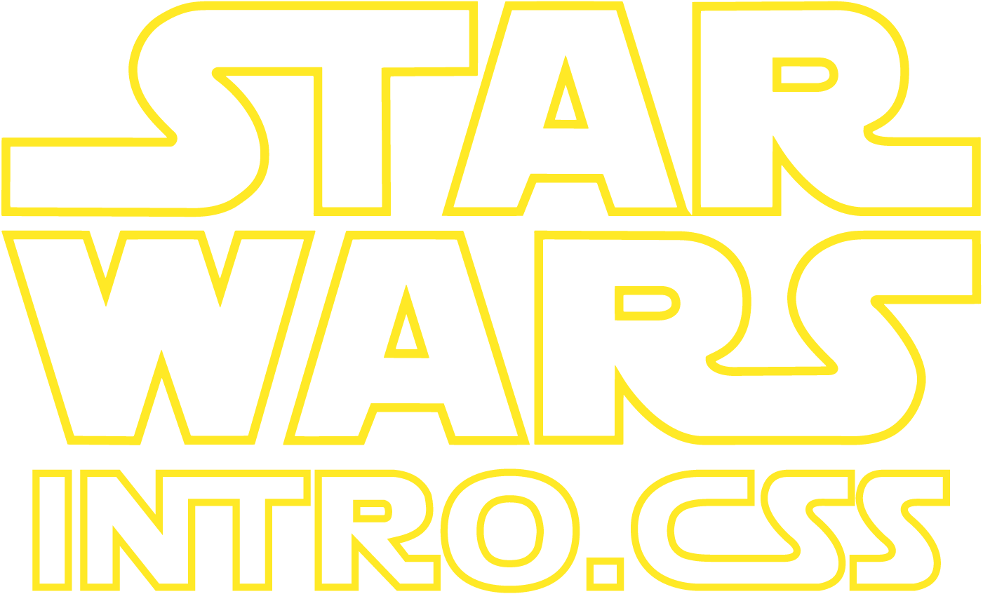 Star Wars Intro : The Star Wars Intro Crawl in Pure CSS